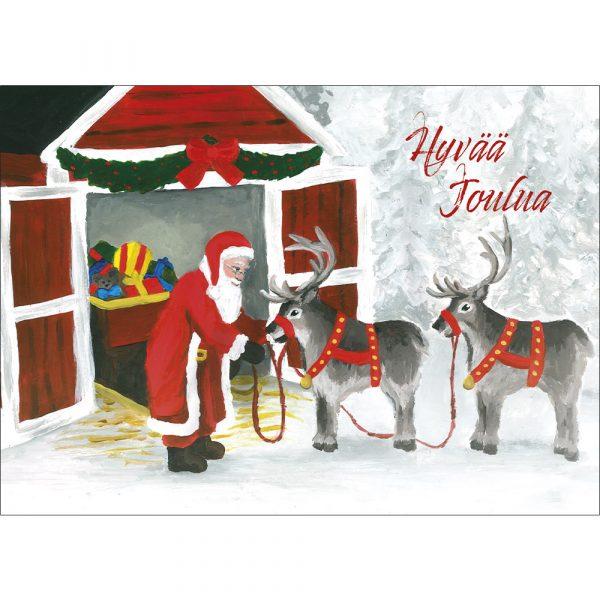 joulukortti-joulupukki-ja-reki