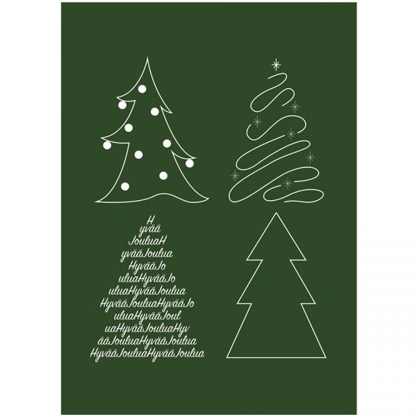 joulukortti-kierratyskartongille