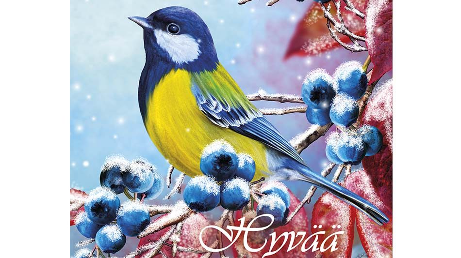 joulukortti-sinitiainen