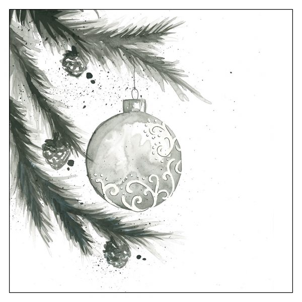 mustavalkoinen-yksinkertainen-joulukortti