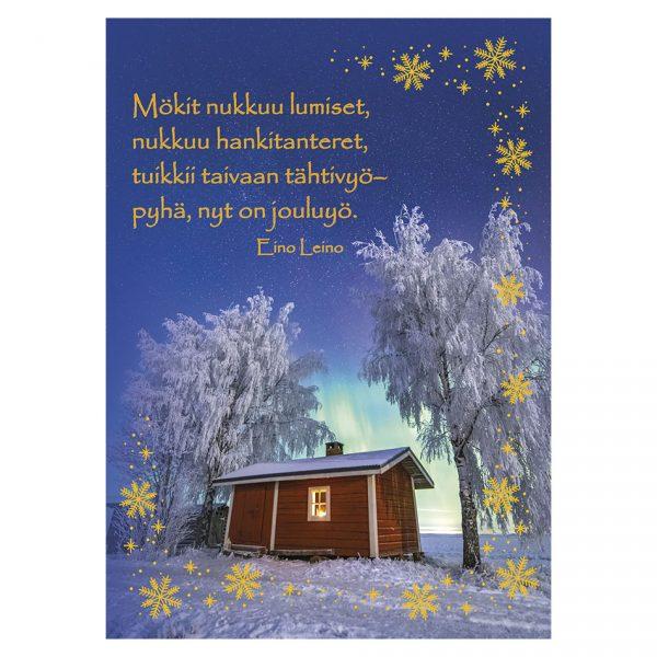joulukortti-revontulet-jukka-risikko