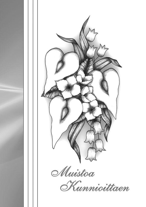 suruadressi-mustavalkoinne-lilja