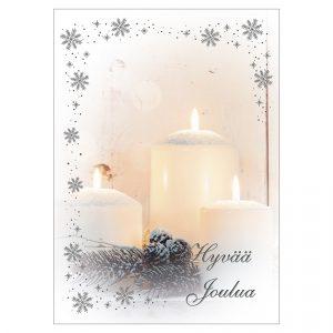 joulukortti-kynttilakortti