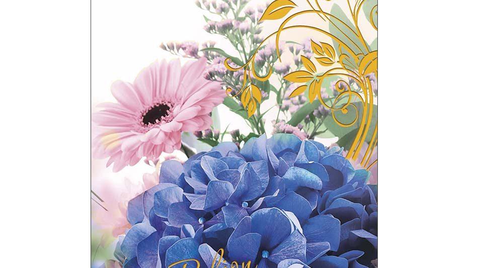onnittelukortti-hortensia