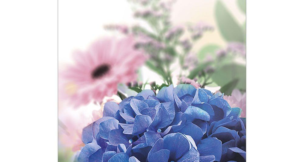 gratulationskort-blå-blomma