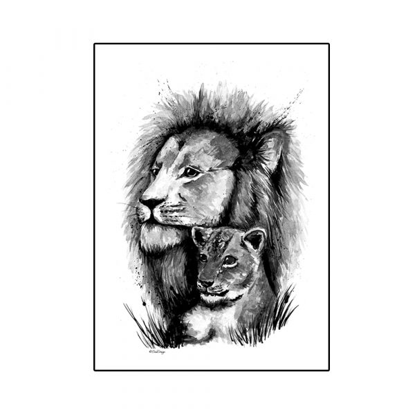 leijona-juliste-lasten-huoneeseen
