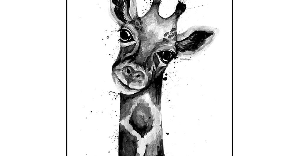kirahvi-juliste-sisustukseen