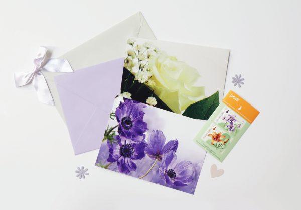 kukka-postikortti