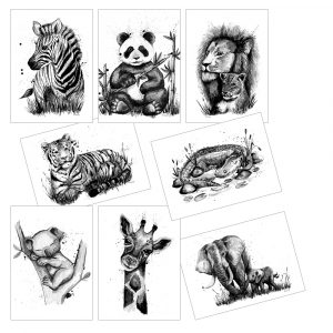 postikortti-villielaimet
